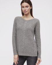 кашемировый свитер Andrea женский серый