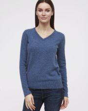 кашемировый свитер Sandra синий женский
