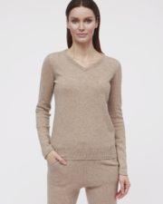 кашемировый свитер Sandra коричневый женский