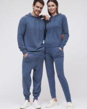 Кашемировые женские брюки Charlotte синие