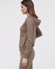 Кашемировый женский худи Kara коричнеый