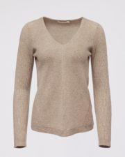 кашемировый свитер Mollie женский коричневый