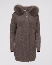 Кашемировое пальто Bridgette коричневое