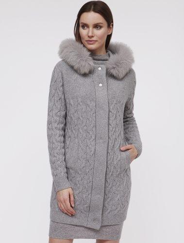 серое пальто для женщин