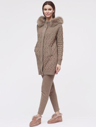 коричневое пальто для женщин